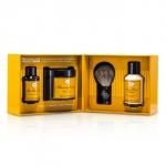 4 элемента чистого бритья - лимон (масло до бритья + крем для бритья + бальзам после бритья + кисточка для бритья ) 4шт.