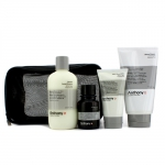 Набор для бритья Logistics For Men: клинзер + масло до бритья + крем для бритья + крем после бритья + сумка 4шт.+1bag
