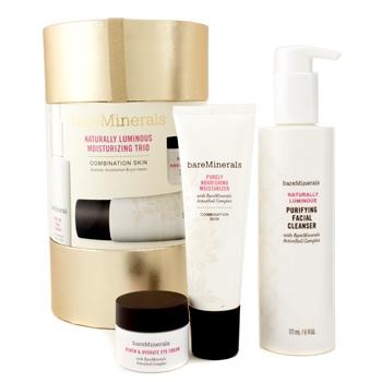 Три увлажняющих средства Naturally Luminous ( для комбинированной кожи ): очищающее средство для лица + увлажняющее средство + крем для глаз 3шт.