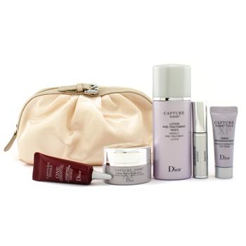 Дорожный набор Capture  R60/80: средство против морщин + корректирующий крем + крем для глаз + сыворотка One Essential  + тушь + сумка 5шт.+1bag