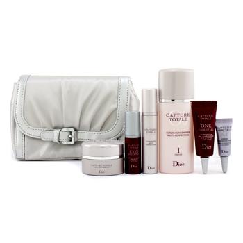Capture Totale Travel Set: Lotion + Creme + Serum + One Essential + Eye Essential + Eye Creme + Bag