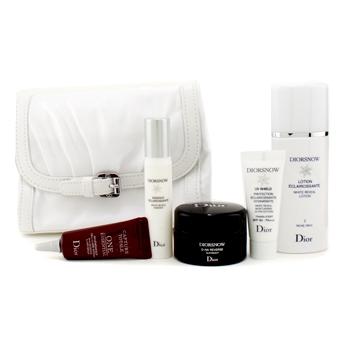 Набор DiorSnow White Reveal: лосьон + ночной крем + эссенция + UV защита + One Essential  + сумка 5шт.+1bag
