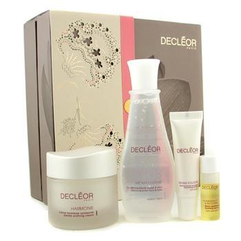Программа для разглаживания кожи: сыворотка + крем + очищающая вода + бальзам для губ 4шт.