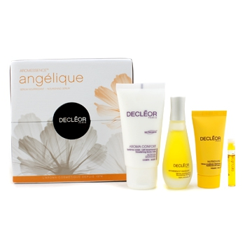 Aromessence Angelique: Aroma Confort + Nourishing Serum + Nutriboost Soft Cream + Tan Activator Serum + Box