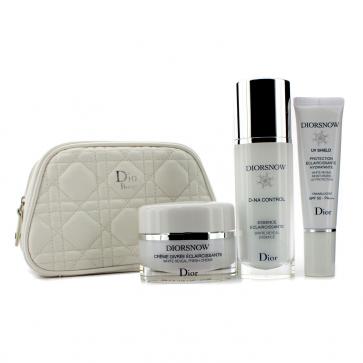 Набор Diorsnow White Reveal Program: эссенция White Reveal + крем Fresh + защита от солнца с фактором SPF 50 + сумка 3шт.+1bag
