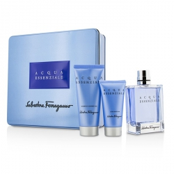 Acqua Essenziale Coffret: Eau De Toilette Spray 100ml/3.4oz + After Shave Balm 50ml/1.7oz + Shower Gel 100ml/3.4oz