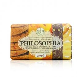Philosophia Natural Soap - Scrub - Mediterranean Plum, Persimmon & Amber With Bran & Walnut Granules