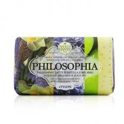 Philosophia Natural Soap - Cream - Rosewood, Birch Milk & Black Iris With Cream & Pearl Extract