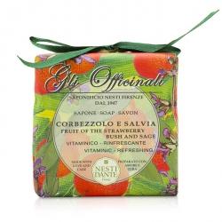 Gli Officinali Soap - Fruit Of The Strawberry Bush & Sage - Vitaminic & Refreshing