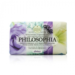 Philosophia Natural Soap - Detox - Winter Daphne, White Lotus & Echinacea With Azulene & Oligoelements