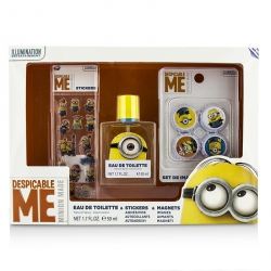 Minions Coffret: Eau De Toilette Spray 50ml/1.7oz + Magnets + Stickers