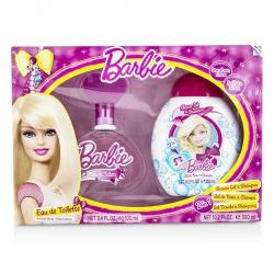 Barbie Coffret: Eau De Toilette Spray 100ml/3.4oz + Shower Gel & Shampoo 300ml/10.2oz