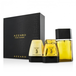Azzaro Coffret: Eau De Toilette Spray 100ml/3.4oz + Hair & Body Shampoo 75ml/2.6oz + After Shave Balm 75ml/2.6oz