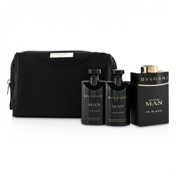 In Black Coffret: Eau De Parfum Spray 100ml/3.4oz + After Shave Balm 75ml/2.5oz + Shower Gel 75ml/2.5oz + Pouch