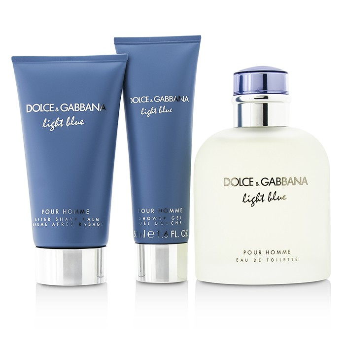 Dolce   Gabbana Homme Light Blue Coffret  EDT Spray 125ml 4.2oz + ... 1475860edbd0