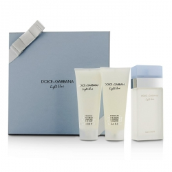 Light Blue Gift Coffret: Eau De Toilette Spray 100ml/3.3oz + Body Cream 100ml/3.3oz + Bath & Shower Gel 100ml/3.3oz