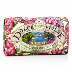 Dolce Vivere Fine Natural Soap - Sicilia - Bouganville, Marine Sea Salt & Papyrus Tree