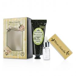 Beau Jardin Citrus Grove Manicure Coffret: Hand Cream 100ml/3.38oz + Cuticle Oil 10ml/0.33oz + Nail Buffer