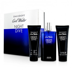 Cool Water Night Dive Coffret: Eau De Toilette Spray 125ml/4.2oz + After Shave Balm 75ml/2.5oz + Shower Gel 75ml/2.5oz