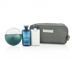 Aqva Pour Homme Coffret: Eau De Toilette Spray 100ml/3.4oz + Shampoo & Shower Gel 75ml/2.5oz + After Shave Balm 75ml/2.5oz + Pouch