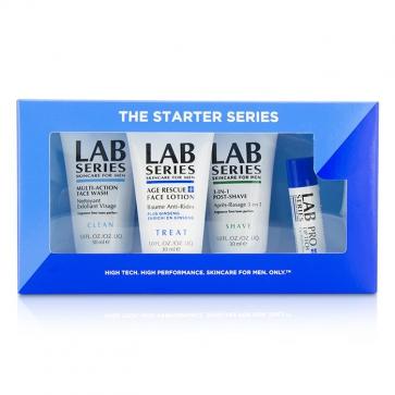 Lab Series Базовый Набор: Средство для Умывания 30мл + Лосьон для Лица 30мл + Средство после Бритья 30мл + Бальзам для Губ 4.3г