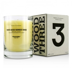 Scented Candles - White Wood Three