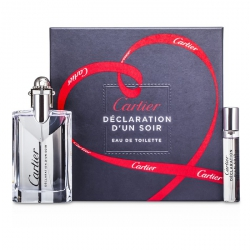 Declaration d'un Soir Coffret: Eau De Toilette Spray 50ml/1.6oz + Eau De Toilette Spray 9ml/0.3oz