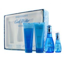 Cool Water Coffret: Eau De Toilette Spray 50ml/1.7oz + Eau De Toilette Spray 15ml/0.5oz + Body Lotion 75ml/2.5oz + Shower Gel 75ml/2.5oz