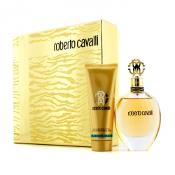 Roberto Cavalli (New) Coffret: Eau De Parfum Spray 75ml/2.5oz + Body Lotion 75ml/2.5oz (Gold Box)