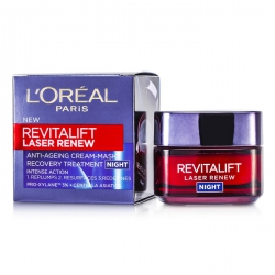 Revitalift Laser Renew Anti-Ageing Cream-Mask Recovery Treatment Night