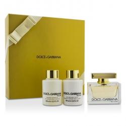 The One Coffret: Eau De Parfum Spray 75ml/2.5oz + Body Lotion 100ml/3.3oz + Shower Gel 100ml/3.3oz