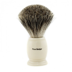 Pure Badger Shaving Brush - Ivory