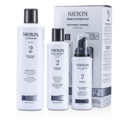System 2 System Kit For Fine & Noticeably Thinning Hair : Cleanser 300ml + Scalp Therapy 150ml + Scalp Treatment 100ml