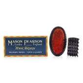Boar Bristle - Sensitive Military Pure Bristle Medium Size Hair Brush (Dark Ruby)