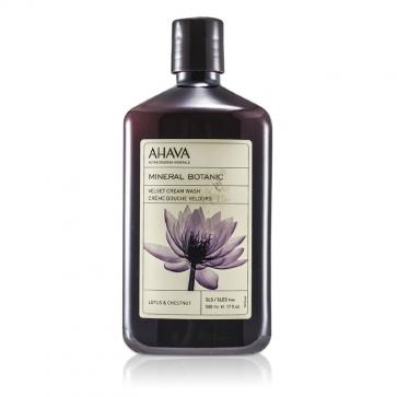 Минеральный Растительный Бархатистый Крем для Душа - Цветок Лотоса и Каштан (для Чувствительной Кожи)