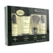 Starter Kit - Unscented: Pre Shave Oil + Shaving Cream + Brush + After Shave Balm
