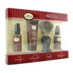 Starter Kit - Sandalwood: Pre Shave Oil + Shaving Cream + Brush + After Shave Balm