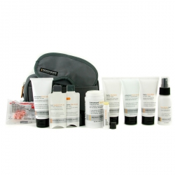 Travel Kit: Face Wash + Lotion + Shave Formula + Post-Shave Repair + Shampoo + Deodorant + Lip Protection + Eye Mask + Ear Plugs + Bag