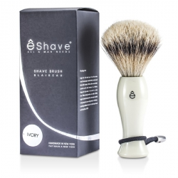 Shave Brush Silvertip - White
