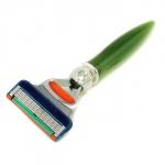 Станок для бритья с 5 лезвиями - зеленый