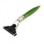 Станок для бритья с 3 лезвиями - зеленый