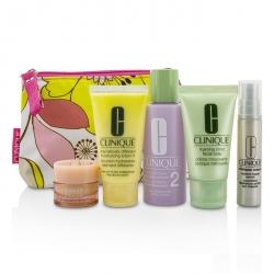 Travel Set: Facial Soap 30ml + Lotion 2 60ml + DDML 30ml + Serum 10ml + All About Eyes 7ml + Bag
