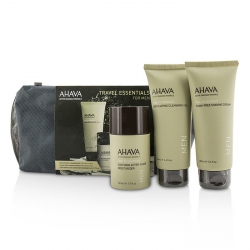 Travel Essentials For Men Set: Exfoliating Cleansing Gel 100ml + Shaving Cream 100ml + After-Shave Moisturizer 50ml