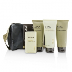 Men's Care Set: Shaving Cream 100ml + Mineral Shower Gel 100ml + Dermud Intensive Foot Cream 100ml + Purifying Mud Soap 100g