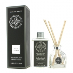 Reed Diffuser with Essential Oils - Clean Cotton