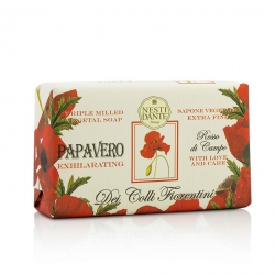 Dei Colli Fiorentini Triple Milled Vegetal Soap - Poppy