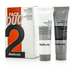Logistics For Men Face Duo Kit: Glycolic Facial Cleanser 30ml + All Purpose Facial Moisturizer 30ml