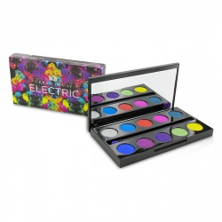 Electric Pressed Pigment Palette: 10x Pressed Pigment, 1x Double Ended Pressed Pigment Brush