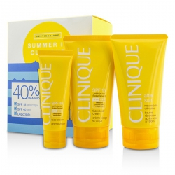 Summer In Clinique Coffret: Face Cream SPF 40 50ml+ Face/Body Cream SPF 15 150ml + After Sun Rescue Balm With Aloe 150ml