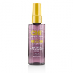 Deep Brilliance Olive & Monoi Shine Serum Light Weight Leave-In Treatment